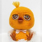 Куклы и игрушки ручной работы. Ярмарка Мастеров - ручная работа Цыплёнок Цыпчик в скорлупке. Вязаная игрушка ручной работы.. Handmade.