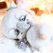 Куклы и игрушки ручной работы. Ярмарка Мастеров - ручная работа Слон Эйо и мышонок. Handmade.