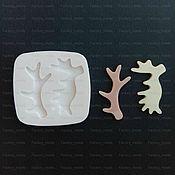 Инструменты для кукол и игрушек ручной работы. Ярмарка Мастеров - ручная работа Силиконовая форма, рога оленя и лося. Handmade.