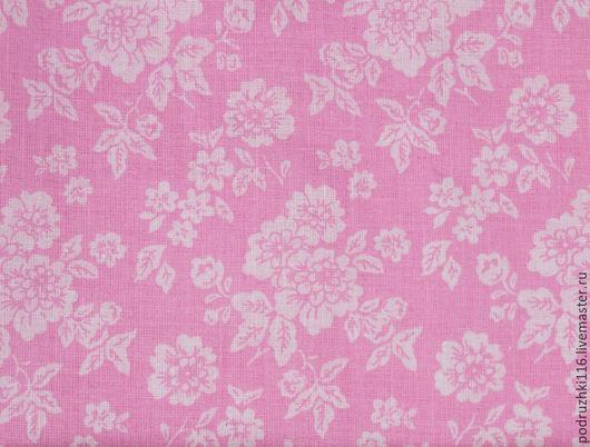Шитье ручной работы. Ярмарка Мастеров - ручная работа. Купить Ткань Хлопок Цветы Крупные на розовом Чехия. Handmade. Хлопок