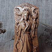 Для дома и интерьера handmade. Livemaster - original item Goddess Hecate, Lady of the witches, wooden figurine. Handmade.