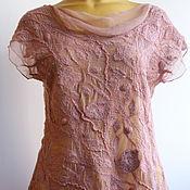 Одежда ручной работы. Ярмарка Мастеров - ручная работа Авторская блузка Цвет пыльной розы. Handmade.