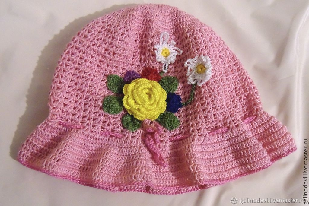 PANAMA 'the Yellow rose' girls knit summer, Panama, Moscow,  Фото №1