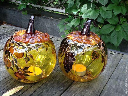 """Подсвечники ручной работы. Ярмарка Мастеров - ручная работа. Купить Подсвечники"""" Спелые яблочки"""". Handmade. Оранжевый, подсвечники, подарок женщине"""