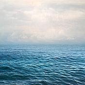 Картины и панно handmade. Livemaster - original item Seascape Abstract Photo painting Blue sea, White clouds. Handmade.