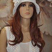 Аксессуары handmade. Livemaster - original item Openwork hat, cotton, ,55-60p.. Handmade.