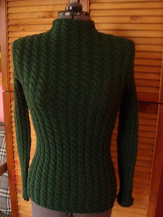 Кофты и свитера ручной работы. Ярмарка Мастеров - ручная работа. Купить Свитер  темно-зеленый. Handmade. Тёмно-зелёный