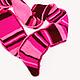 """Шарфы и шарфики ручной работы. Ярмарка Мастеров - ручная работа. Купить Шарф """"Розовый полосатик"""". Handmade. Фуксия, ягодный, полоски"""