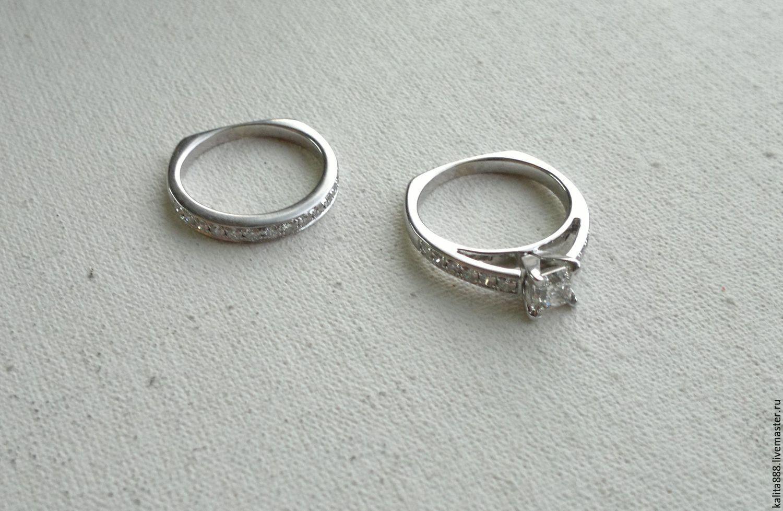 Купить Помолвочное кольцо с бриллиантом и · Кольца ручной работы. Помолвочное  кольцо с бриллиантом и обручальное кольцо с бриллантами. bfa51c58ad4