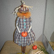Куклы и игрушки ручной работы. Ярмарка Мастеров - ручная работа Кукла Тыквоголовка с тыквой :). Handmade.