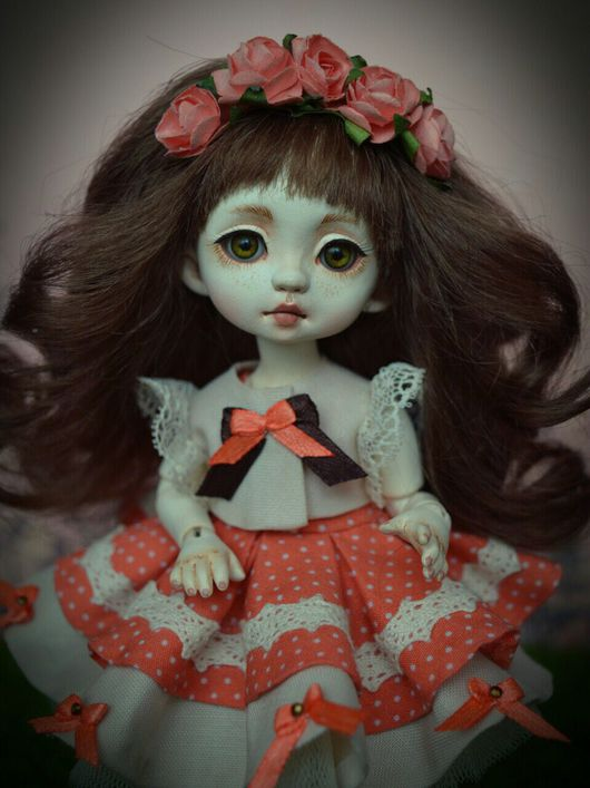 Коллекционные куклы ручной работы. Ярмарка Мастеров - ручная работа. Купить Мария. Handmade. Шарнирная кукла, флюмо