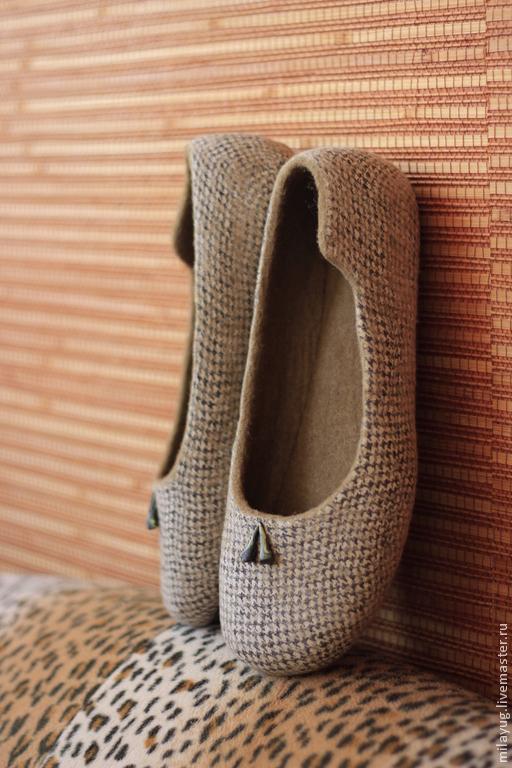 """Обувь ручной работы. Ярмарка Мастеров - ручная работа. Купить """"Paola"""" туфельки балетки валяные.. Handmade. Коричневый, осень, туфли"""