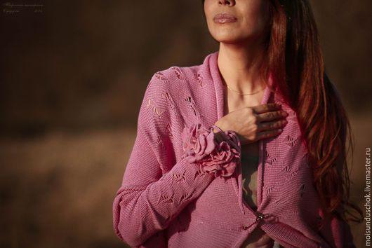"""Кофты и свитера ручной работы. Ярмарка Мастеров - ручная работа. Купить Кардиган """"Баллада о цвете"""". Handmade. Розовый, летний"""