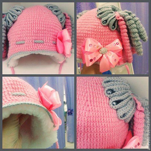 Шапки и шарфы ручной работы. Ярмарка Мастеров - ручная работа. Купить зимняя шапочка. Handmade. Комбинированный, шапочка, шапочка для девочки