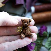 Куклы и игрушки handmade. Livemaster - original item Micro bear brown, ,3cm. Handmade.