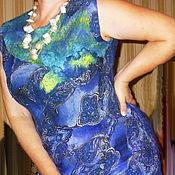 Одежда ручной работы. Ярмарка Мастеров - ручная работа Платье валяное на шелке ETRO. Handmade.