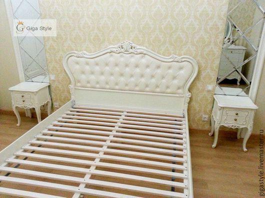 Мебель ручной работы. Ярмарка Мастеров - ручная работа. Купить Кровать резная в стиле барокко, ручная работа. Handmade. Белый