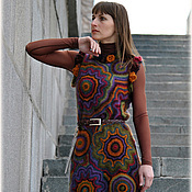 """Одежда ручной работы. Ярмарка Мастеров - ручная работа Вязаное платье """"...........KaleidosСope......."""". Handmade."""