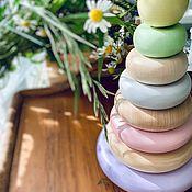 """Мягкие игрушки ручной работы. Ярмарка Мастеров - ручная работа Пирамидка деревянная """"Любимая игрушка"""". Handmade."""