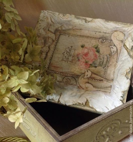 """Шкатулки ручной работы. Ярмарка Мастеров - ручная работа. Купить Шкатулка """" Rose Grazioso"""". Handmade. Разноцветный, фреска, птичка"""