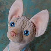 Куклы и игрушки ручной работы. Ярмарка Мастеров - ручная работа Беатриче,  кошка сфинкс. Handmade.