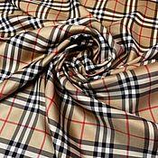 Материалы для творчества handmade. Livemaster - original item Fabric: Burberry Silk Classic Cage. Handmade.