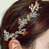 Свадебный салон handmade. Livemaster - original item Sprig of crystal hair in pale pink. Handmade.