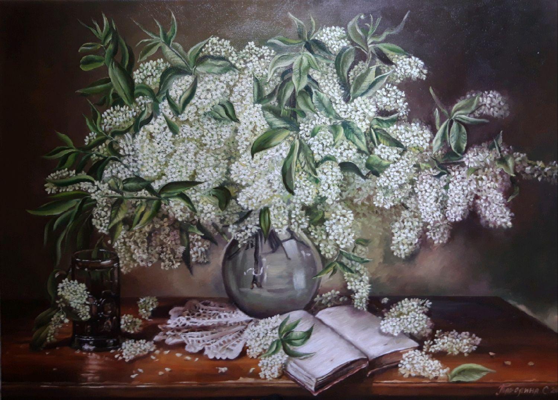"""Картина """"Белая сирень"""". Натюрморт с белой сиренью, Картины, Анапа,  Фото №1"""