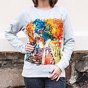 Одежда handmade. Livemaster - original item Sweatshirt painting