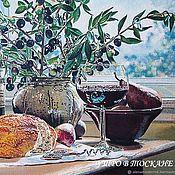"""Картины и панно handmade. Livemaster - original item """"Утро в Тоскане""""Накопитель винных пробок,копилка,вино,винный. Handmade."""