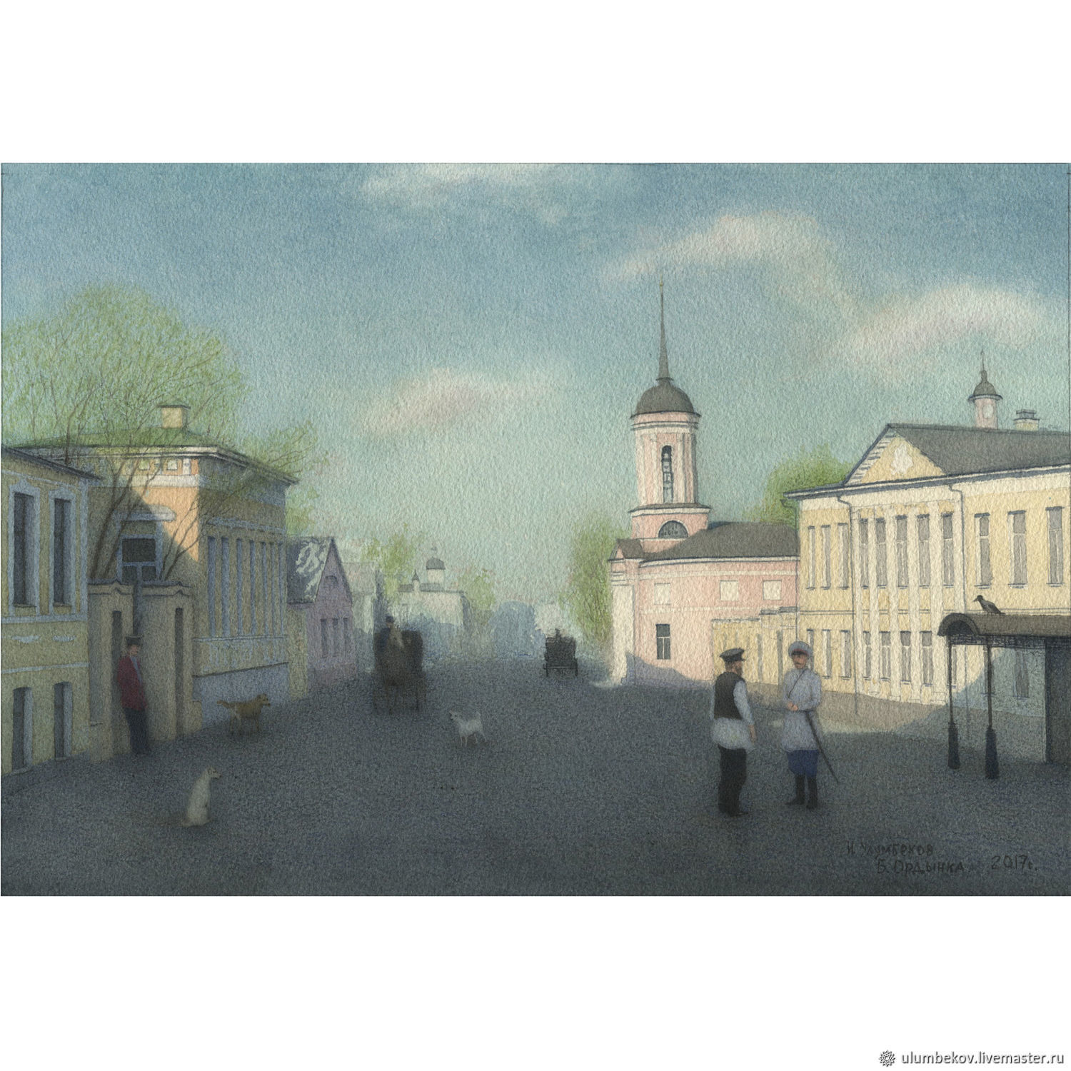 Buy painting with slip Mat Moscow Bolshaya Ordynka, Pictures, Moscow,  Фото №1