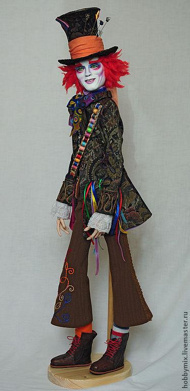 Коллекционные куклы ручной работы. Ярмарка Мастеров - ручная работа. Купить Безумный Шляпник, интерьерная кукла. Handmade. Шляпник, яркий