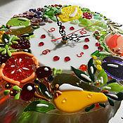 """Для дома и интерьера ручной работы. Ярмарка Мастеров - ручная работа Часы """"Солнечные фрукты"""". Handmade."""