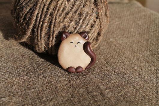 """Броши ручной работы. Ярмарка Мастеров - ручная работа. Купить Брошь """"Сиамочка"""". Handmade. Разноцветный, кошка, сиамская кошка"""