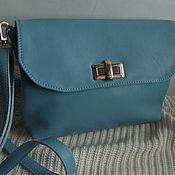 Сумки и аксессуары handmade. Livemaster - original item Leather bag. Crossbody bag. Bag with flap Blue. Handmade.