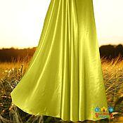 Одежда ручной работы. Ярмарка Мастеров - ручная работа Желтая юбка из креп-сатина Яркое настроение. Handmade.