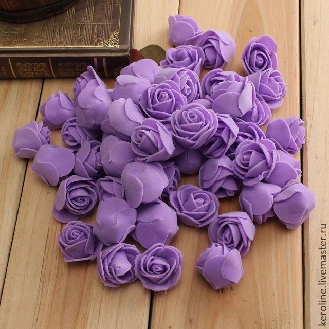 Фиолетовые цветы из фома