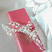 Украшения handmade. Livemaster - original item Comb: Pearl tenderness. Handmade.