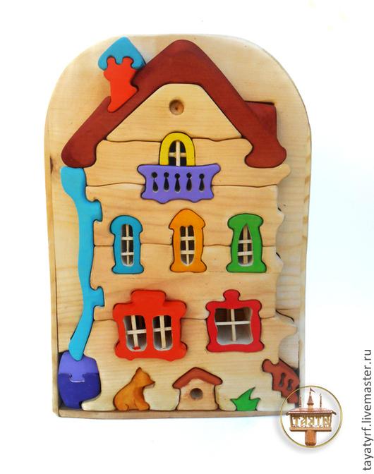 Развивающие игрушки ручной работы. Ярмарка Мастеров - ручная работа. Купить Кошкин дом конструктор-паззл. Handmade. Кукольный дом
