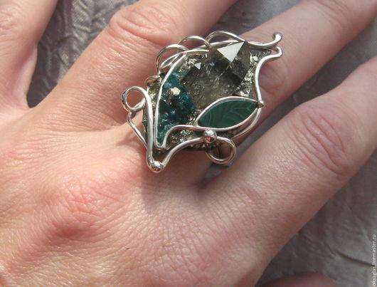 """Кольца ручной работы. Ярмарка Мастеров - ручная работа. Купить Кольцо """"Каменный Цветок"""". Handmade. Комбинированный, кольцо с камнем, раухтопаз"""