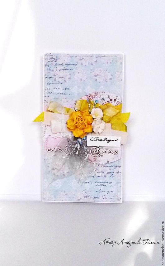 Открытки на все случаи жизни ручной работы. Ярмарка Мастеров - ручная работа. Купить Поздравительная открытка. Handmade. Желтый