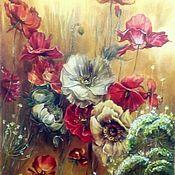 Картины и панно ручной работы. Ярмарка Мастеров - ручная работа Цветы. Маки.. Handmade.