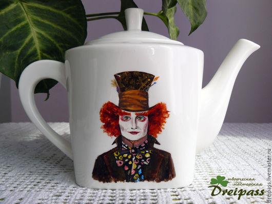 """Чайники, кофейники ручной работы. Ярмарка Мастеров - ручная работа. Купить Чайник заварочный """"Алиса в стране чудес"""". Handmade. Рыжий"""