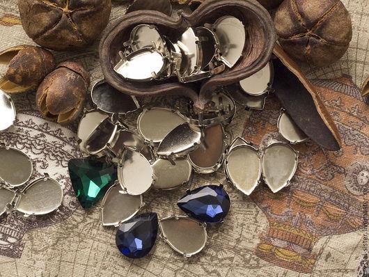 Для украшений ручной работы. Ярмарка Мастеров - ручная работа. Купить Цапы капля 25х18мм Никель. Handmade. Цапы, касты