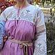 """Одежда ручной работы. Ярмарка Мастеров - ручная работа. Купить Платье """"Птички"""" с плодово-ягодной основой. Handmade. Народная одежда"""