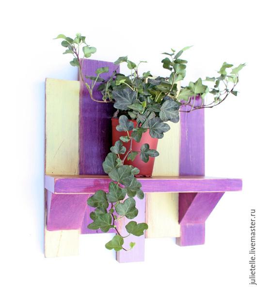 Мебель ручной работы. Ярмарка Мастеров - ручная работа. Купить Полочка для цветов. Handmade. Фиолетовый, лофт, кашпо, хранение
