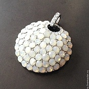 Материалы для творчества handmade. Livemaster - original item Pendant pendant art. 7-4 surround with white crystals. Italy. Handmade.