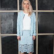 Одежда handmade. Livemaster - original item Suit lace sky blue colour.. Handmade.