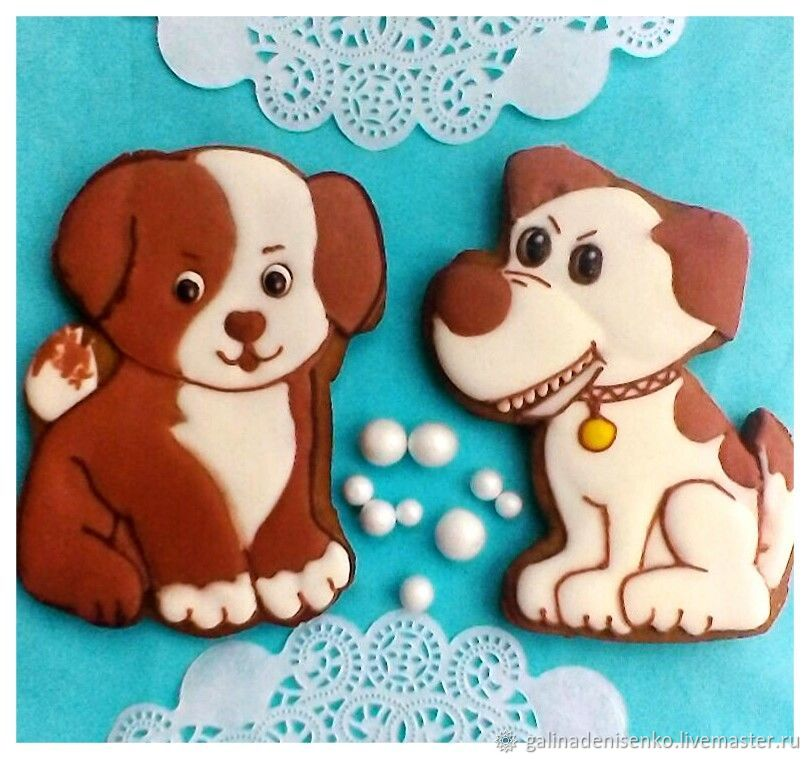 Gingerbread Merry puppy . The carrot Symbol 2018 ( two types), Gingerbread Cookies Set, Rostov-on-Don,  Фото №1