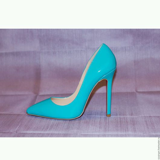 """Обувь ручной работы. Ярмарка Мастеров - ручная работа. Купить туфли  в лак коже """"Бирюза"""". Handmade. Бирюзовый, готовая работа"""
